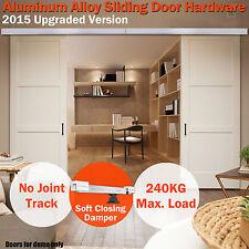 New 4m Aluminum Alloy Sliding Barn Door Hardware Track Set Home Bedroom Office
