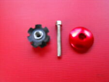 "New  3 pcs 11/8"" HEADSET  ""RED TOP-CAP/HAT ""+ Fork Steerer STAR EXPANDER + BOLT"
