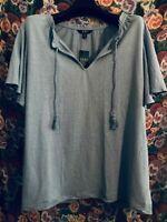 Lauren Ralph Lauren Women's Top Plus Size Short Sleeve Shirt 2X Blue NEW