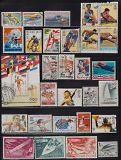 Worldwide 29 used stamps - Sports, Olympic Games etc.