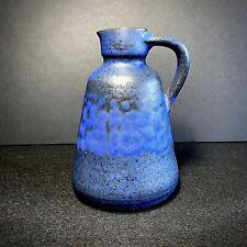 West German Danish Studio Pottery Poul Helwer Lubeck 1970's Blue Glazed Vase