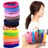 50 Pcs Elastic Rope Ring Hairband Women Girls Hair Band Tie Ponytail Holder Hot