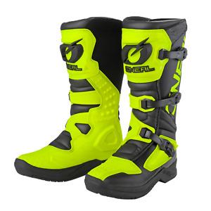 2021 O'Neal Motocross Boots RSX Black/Neon Yellow MX Off-Road Enduro Quad ATV