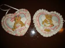 Cherished Teddies. 1994 Heart Shaped Ornaments