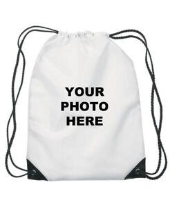 Personalised Drawstring School Swim PE Kids Swimming Bag Name Printed Swim Bag