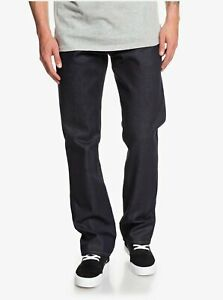 QUIKSILVER Mens Sequel Rinse Straight Fit Jeans Pants Trouser - Rinse