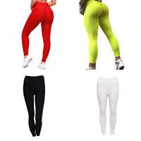 Leggings de fitness de cintura alta para mujer Pantalones de poliester leva H3N8