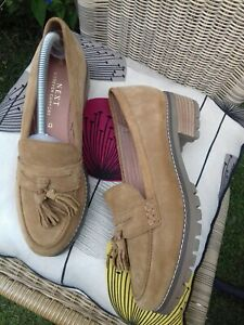 LADIES Next NEW Forever Comfort Sand Suede Loafers shoes Flats UK size 8  42