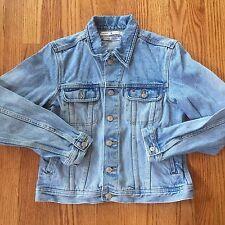 Women's Vintage Tommy Hilfiger Blue Denim Trucker Button Up Jean Jacket Size M