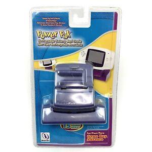 Purple Blue Gameboy Advance InterAct Power Pak Rechargeable Battery