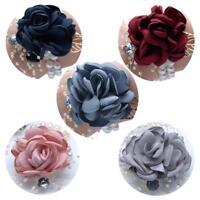 Silk Flower Bracelet Wrist Flowers Bride/Bridesmaid Wrist Rose Corsage Wedding