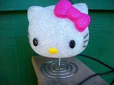 """HELLO KITTY"" NIGHT LIGHT - Plastic & Metal - Line Switch On Cord"