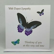 With Deepest Sympathy Card | Bereavement | Blank inside |  | Butterflies card
