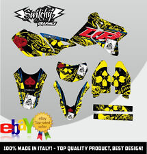 KIT ADESIVI GRAFICHE ACE OF SPADES 2.0 YELLOW BLACK SUZUKI DR-Z 400 SM DRZ