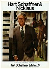 1977 Jack Nicklaus golf Hart Schaffner Marx clothing retro photo print ad ads37