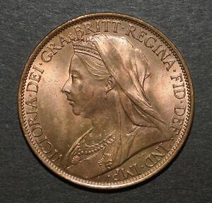 VICTORIA 1900 PENNY. UNC