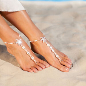 Women Silver Boho Anklets Ankle Star Bracelet Foot Feet Jewelry Chain Beach Gift