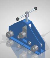 HEAVY DUTY RING ROLLER PLANS - ROLL BENDER PLANS - DIY FLAT BAR ROLLER
