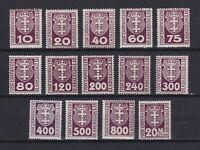 DANZIG GERMANY 1921-1922, Sc#J1-J14, CV $25, MNH/MH