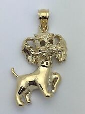 New Solid 14K Yellow Gold Yorkshire Terrier,Maltese Dog Puppy Charm Pendant 8.2g
