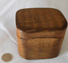 Unique wooden trinket box with lid Hand crafted in Devon from yew wood 3 inch