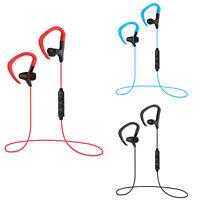 Wireless Bluetooth Headphone Sport EarHook Earphone Bass Stereo Headset With Mic
