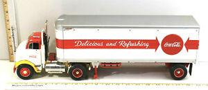 Vintage Ertl 1997 Coke Coca-Cola Die-Cast Great Dane Tractor GMC Trailer NIB
