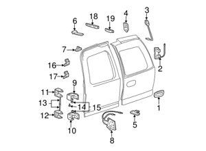 """GM # 15767488 REAR DOOR HINGE PINS * NEW / OE *  """" TWO FOR ONE SALE*"""