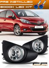 LED + 2012-2014 Toyota Yaris Fog Lights 3/5 Doors Hatchback Front Lamps Full Kit