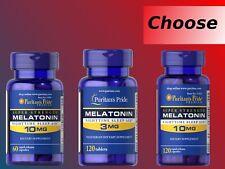 PURITAN'S PRIDE MELATONIN 3mg 10mg  60 120 240 tablets capsules sleep night time