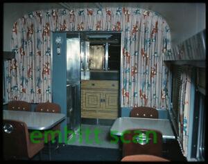 Original Transparency, ATSF Santa Fe Diner Dining Car Interior View, 1950s