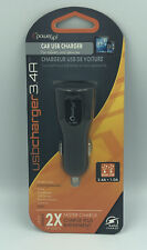 PowerUp! Car USB Charger 3.4A with 2 USB Ports (Black)