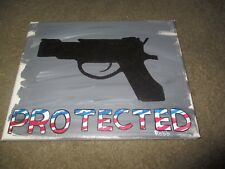 "Patriotic Gun  Painting-""PROTECTED""-8 x 10-Gun on Canvas-Free Shipping"