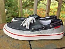 ROCKPORT Perth Black Silver Loafers Casual Venetian Boat Deck Men Shoes Sz 10.5