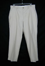 Perry Ellis Cottons Dress Pants Men Size 36/29 Beige Corduroy Flat Front Office