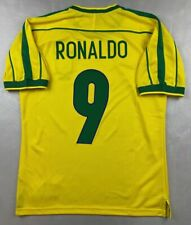 MAGLIA CALCIO RETRO BRASILE HOME 1998 WORLD CUP 9 RONALDO FENOMENO BRASIL BRAZIL