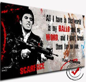 Bild Leinwand Bilder Al Pacino Dig.Gemälde Scarface Pop Art Wandbild Film Druck