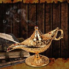 Metal Aladdin Lamp Oil Magic Genie Vintage Tea Pot Arabian Arts Craft 21x7x11cm
