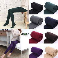 Women's Fleece Lined Winter Thick Warm Thermal Stretchy Leggings Solid Color US