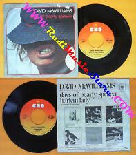 LP 45 7'' DAVID MCWILLIAMS Days of pearly spencer Harlem lady 1976 no cd mc dvd