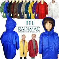 RAINMAC Unisex Waterproof Kag Mac Jacket Kids Kagool Cagoule Hooded Raincoat