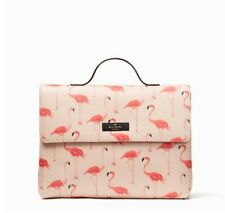 Kate Spade Flamingo Lita Shore Street Travel Cosmetic Pouch Pink Bag NWT