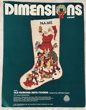 Dimensions Christmas Crewel Stitchery Stocking Kit Old Fashioned Santa 8008