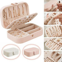 Portable Travel Jewelry Box Organizer Jewellery Ornaments Case Storage