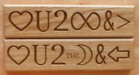 Love You to the Moon and Back - Love you to Eternity American Oak Hardwood Sign