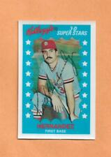 KEITH HERNANDEZ 1982 KELLOGGS 3-D SUPERSTARS CARD # 23