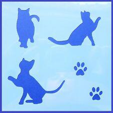 Flexible Stencil *CAT SILHOUETTE* Kitten Paw Prints Card Making 10cm x 10cm