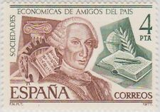 (SPA8) 1977 Spain 4p brown & green fine used ow2451