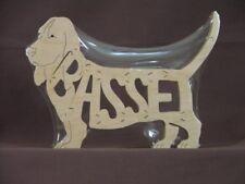 Basset Hound Dog Wood Amish made Toy Scroll Saw Puzzle Figurine Art