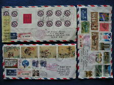 P.R China 1986/89 Shanghai to US 10 Registered Covers